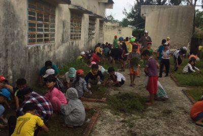 Một buổi lao động tập thể của học sinh trường Tiểu học Thị Trấn 2 ( Chiều ngày 24/10/2019)